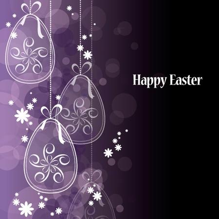 black bow: Easter Background  Vector Illustration