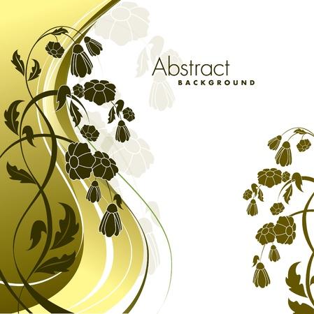 Floral Background Illustration Standard-Bild - 13093964