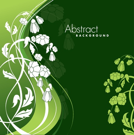 Floral Background Illustration Stock Vector - 13093962