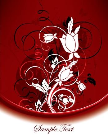 decoration: Floral Background Illustration   Illustration