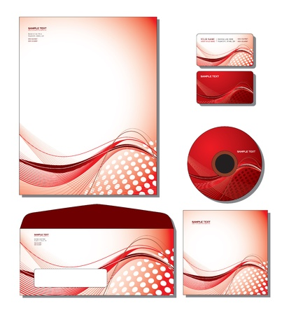 design elements: Identity System Template - letterhead, business and gift cards, cd, cd cover, envelope
