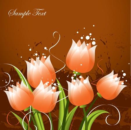 Floral Background Vector Illustration Eps10 Vector Illustration