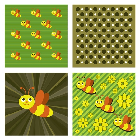 Background with Bees Format  Vector