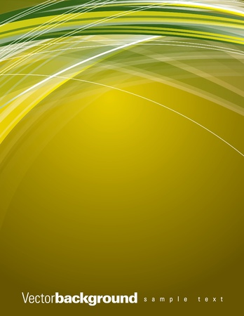 green and yellow: Abstract Vector Background Illustration