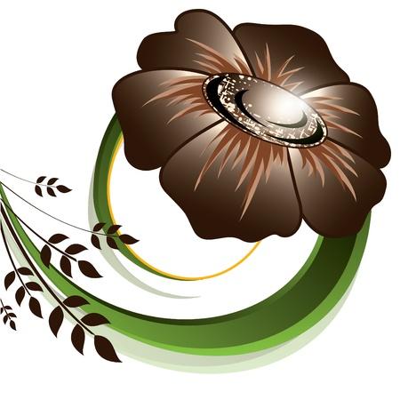 brown: Floral Background  Vector Illustration