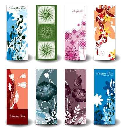 Vector Banners  Floral designs   Vector