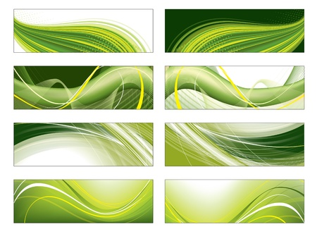 website header: Set of Vector Headers   Illustration
