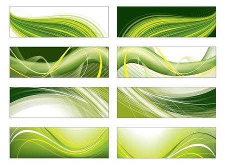 mobile website: Set of Vector Headers   Illustration