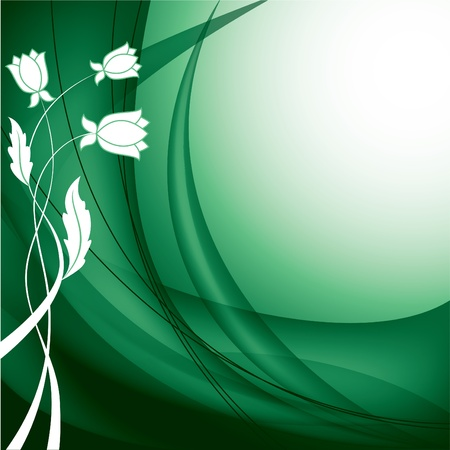 Floral Background  Vector Illustration    Ilustração