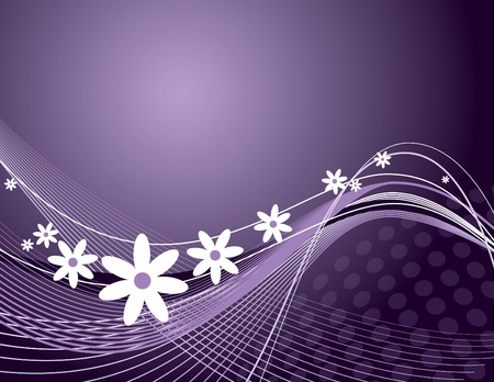 Floral Background Vector Illustration Archivio Fotografico - 13107106