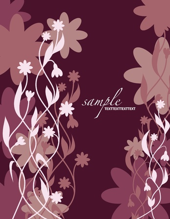 Floral Background  Vector Illustration  Eps10