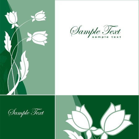 Bloemen Achtergrond Vector Illustratie Eps10 Stockfoto - 13436400