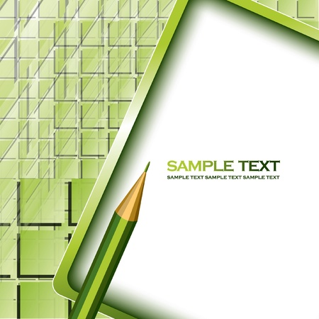 Vector Background with Pencil 版權商用圖片 - 13437399