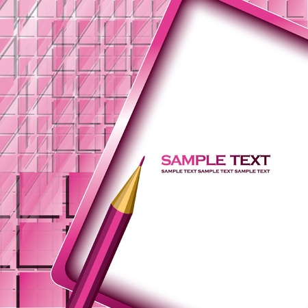 Vector Background with Pencil  Illustration