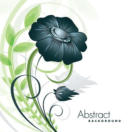 Bloemen Achtergrond Vector Illustratie Eps10 Stockfoto - 13437338