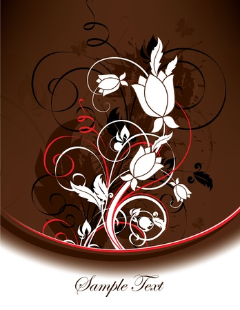 Floral Background  Vector Illustration  Eps10 Stock Vector - 13437325