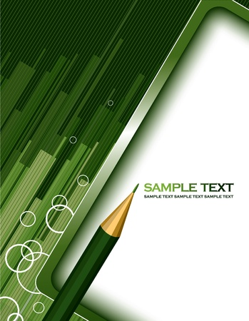 green lines: Vector Background  Abstract Illustration