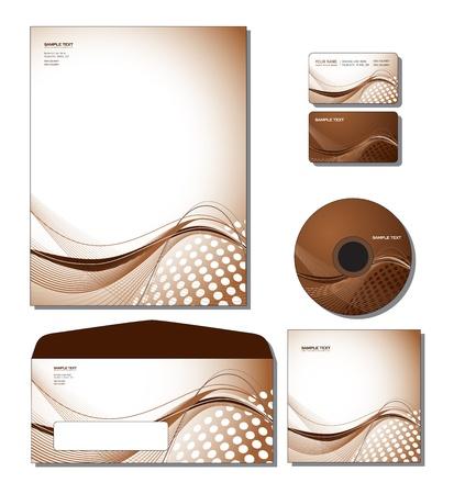 기업의 정체성 템플릿 벡터 - 레터 헤드, 비즈니스 및 선물 카드, CD, CD 커버, 봉투