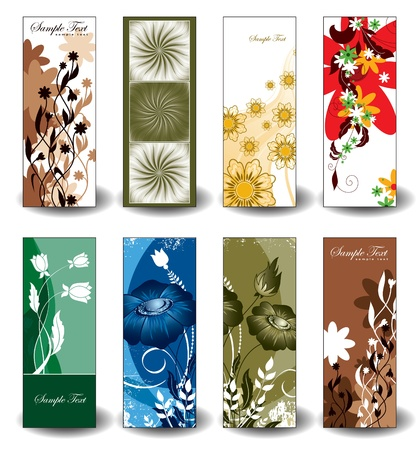 Vector Floral Banners  Eps10 Format   일러스트