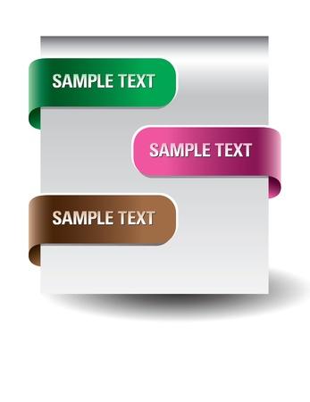 web site design: Paper tags