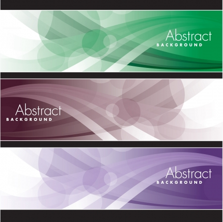 Set of Banners  Abstract Backgrounds  矢量图像