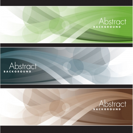 Set of Banners  Abstract Backgrounds  Ilustração