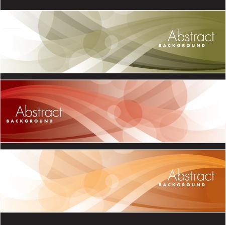 Set van Banners abstracte achtergronden