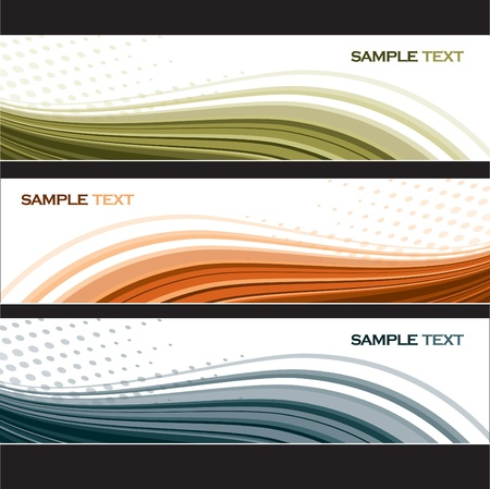 Set of Banners  Abstract Backgrounds  Vector