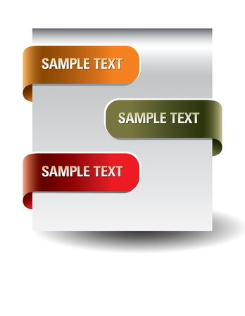 site: Set of paper tags