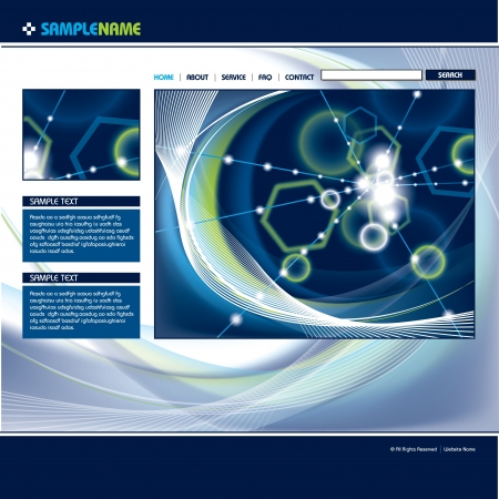 site: Web Site Page Template