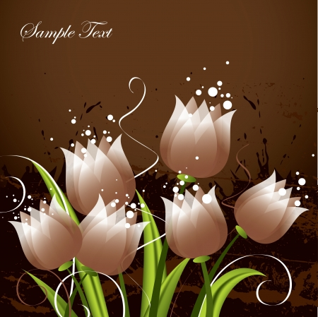 brown swirl: Tulips   Illustration  Illustration