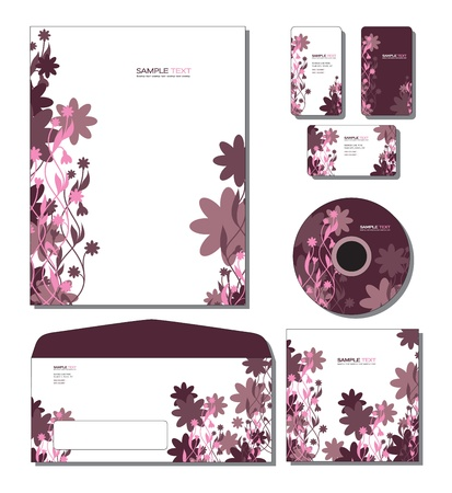 calling art: Corporate Template   - letterhead, business and gift cards, cd, cd cover, envelope    Illustration