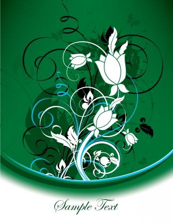 postcard background: Floral Background  Illustration   Illustration