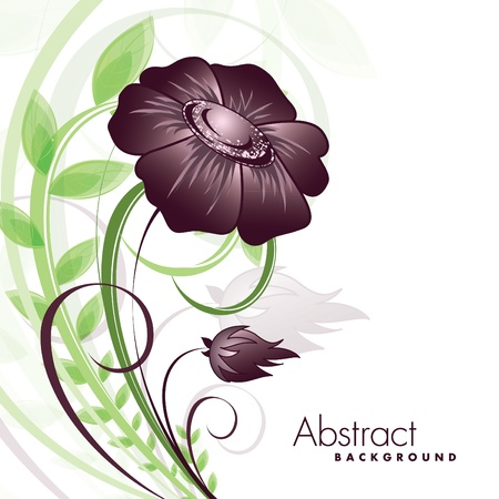 postcard background: Flower   Illustration