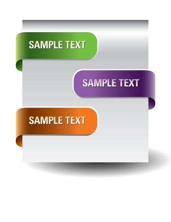 web site design: Set of paper tags
