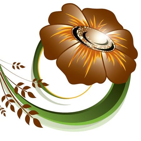 postcard design: Flower  Illustration  Illustration