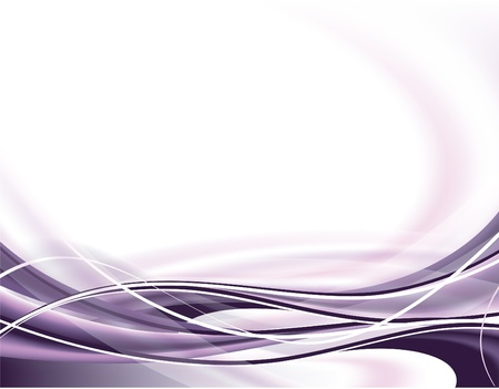 white wave: abstract background Illustration