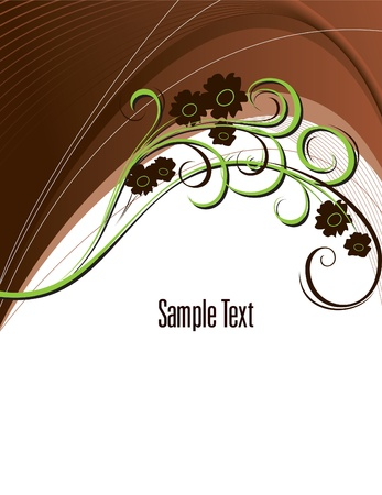 brown swirl: Floral Background