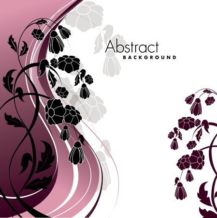 postcard background: Floral Background    Illustration