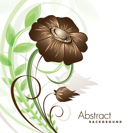 green swirl: Floral Background