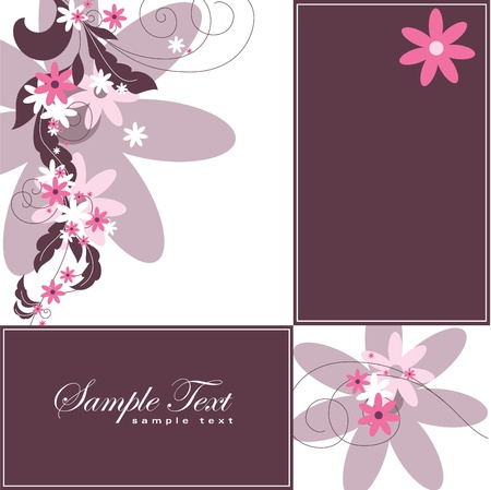 gray: Floral Background