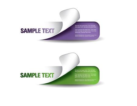 Set van kleurrijke stickers