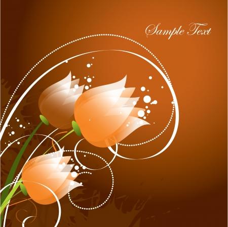 postcard background: Floral Background  Vector Illustration