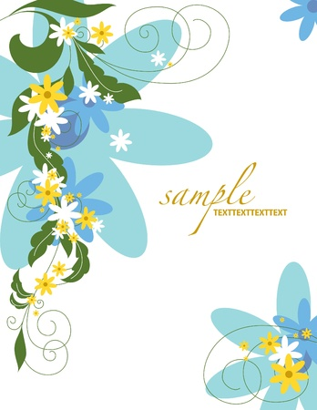 Floral Background Illustration  Stock Vector - 14344025