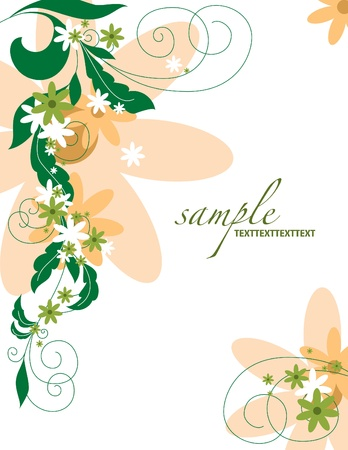 Floral Background    Illustration  Stock Vector - 14344024