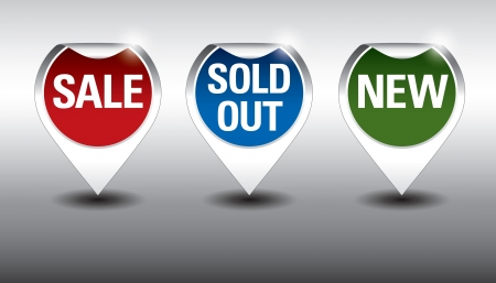 Round Labels or stickers for sale, new and sold out items    Vector