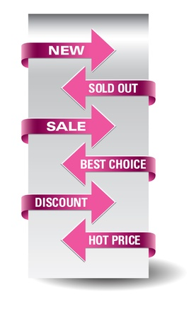 paid: Set of vector arrow sale stickers