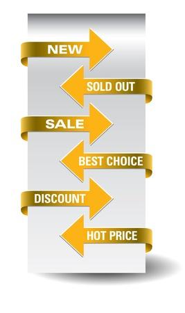 Set of vector arrow sale stickers Stock Vector - 14590322