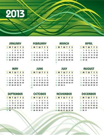 2013 Calendar  Stock Vector - 14584594