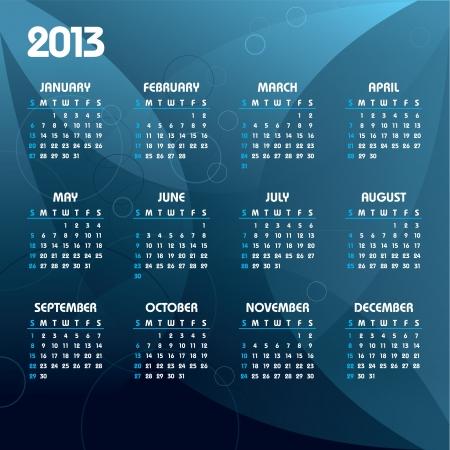 2013 Calendar  Stock Vector - 14596499